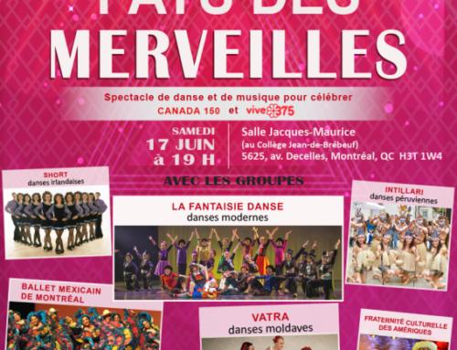 Pays des Merveilles – spectacle, 17 juin Montréal